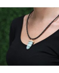 Pamela Huizenga - Metallic Saturn Chalcedony Pendant - Lyst