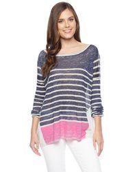 Splendid | Blue Linen Print Pullover | Lyst