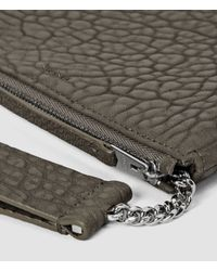 AllSaints | Gray Paradise Chain Purse | Lyst