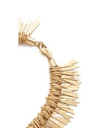 Elizabeth Cole - Metallic Embellished Statement Necklace - Lyst