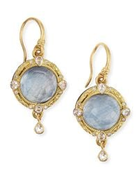 Armenta - Metallic Midnight 18k Gold Earrings With Kyanite & Diamonds - Lyst