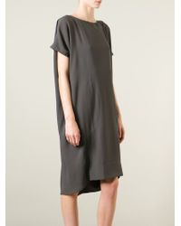 Societe Anonyme - Gray Oversized Loose Fit Dress - Lyst