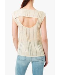 7 For All Mankind - Natural Drape Back Sweater - Lyst