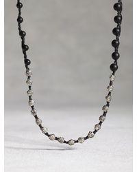 John Varvatos | Black Onyx Beaded Necklace for Men | Lyst