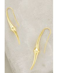Anthropologie - Metallic Totem Knot Earrings - Lyst