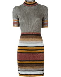 DIESEL - Multicolor Striped Ribbed Dress - Lyst