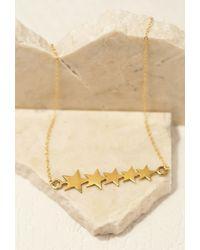 Forever 21 - Metallic Emerald Duv Five-star Pendant Necklace - Lyst
