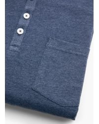 Mango | Blue Henley T-shirt for Men | Lyst
