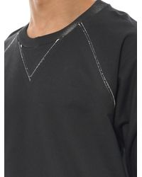 Balenciaga - Black Coated Cotton-Jersey Sweatshirt for Men - Lyst