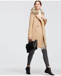 Ann Taylor | Natural Luxe Collar Coat | Lyst