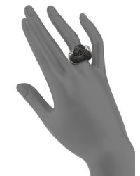 John Hardy | Metallic Classic Chain Black Sapphire & Sterling Silver Large Braided Ring | Lyst