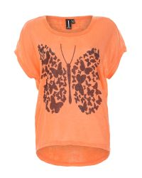 Izabel London - Orange Graphic Butterfly Print Top - Lyst
