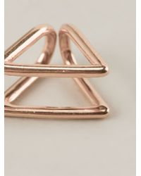 Coops London | Pink Triangle Squeeze On Earrings | Lyst