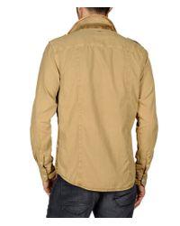 Napapijri | Natural Long Sleeve Shirt for Men | Lyst