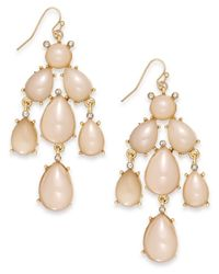 INC International Concepts | Pink Inc International Concept Gold-Tone Natural Cluster Chandelier Earring | Lyst