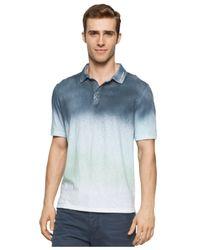 Calvin Klein Jeans - Blue Men's Colorblocked Spray Polo for Men - Lyst