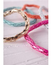 Missguided - Multicolor Contrast Chain Stacking Bracelets Multi - Lyst
