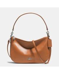 COACH   Brown Chelsea Leather Crossbody Bag   Lyst