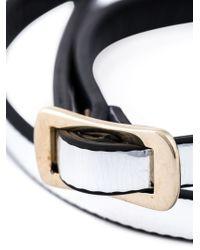 McQ - Metallic Double Strap Swallow Bracelet - Lyst