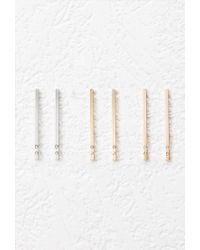 Forever 21 | Pink Matchstick Drop Earring Set | Lyst