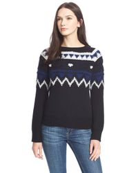 Burberry Brit | Black Wool & Cashmere Blend Sweater | Lyst