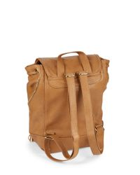 Kensie | Natural Zip-accent Faux Leather Backpack | Lyst