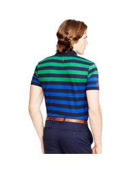 Ralph Lauren - Blue The Open Striped Polo Shirt for Men - Lyst