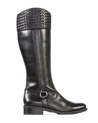 Me Too - Black Dune Leather Knee Boots - Lyst