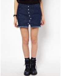 Back by Ann-Sofie Back | Blue Back By Ann-Sofie Back Heavy Denim Stud Skirt | Lyst