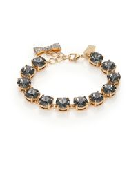 Kate Spade | Gray Fancy That Crystal Bracelet/grey | Lyst