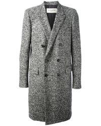Saint Laurent | Gray Tweed Coat for Men | Lyst