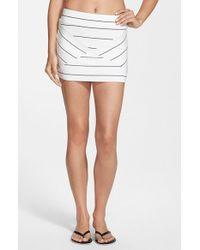Rip Curl - White 'borderline' Print Miniskirt - Lyst