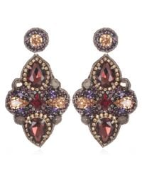 Suzanna Dai | Pink Marseilles Large Drop Earrings, Plum/topaz | Lyst