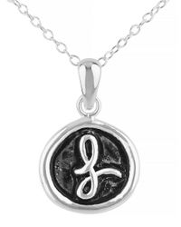 Lord & Taylor | Metallic Oxidized L Pendant Necklace | Lyst