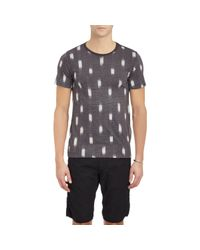 Barneys New York - Brushstroke-Print T-Shirt-Black Size S for Men - Lyst