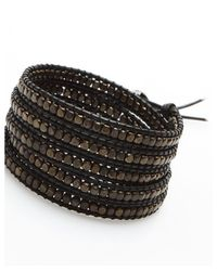 Nakamol | Multicolor Five Times Leather Wrap Bracelet-Gunmetal/Black | Lyst