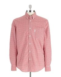 Ben Sherman | Red Gingham Plaid Shirt for Men | Lyst