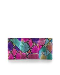 Beirn - Multicolor Extra Large Python Envelope Clutch - Lyst
