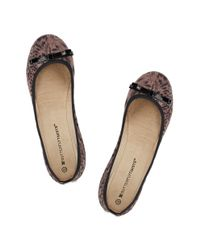 Butterfly Twists - Brown Ballerina Shoe - Lyst