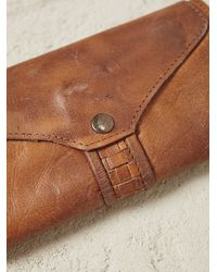 Free People - Brown Washed Ashore Wallet - Lyst