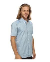 Volcom | Blue Everett Oxford Short Sleeve Woven for Men | Lyst