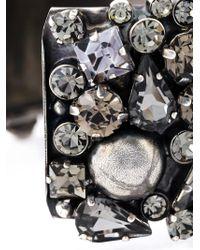 Alberta Ferretti - Metallic Crystal Cuff Bracelet - Lyst