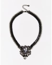 Pieces | Metallic Statement Necklace | Lyst