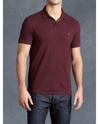 John Varvatos | Red Soft Collar Peace Polo for Men | Lyst