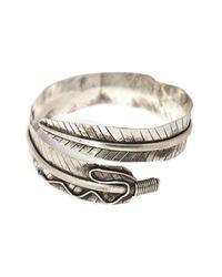 Natalie B. Jewelry - Metallic Natalie B. Wild Feather Armband In Silver - Lyst