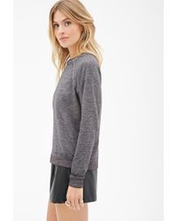 Forever 21 - Gray French Terry Sweatshirt - Lyst