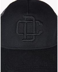 DSquared² - Black Embroidered Garbadine Baseball Cap for Men - Lyst