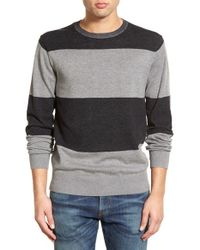 RVCA - Black Block Stripe Crewneck Sweater for Men - Lyst