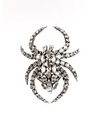 Saint Laurent | Metallic Spider Brooch | Lyst