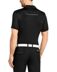 BOSS Green - Black 'Pavu'   Slim Fit, Stretch Polo Shirt With Polygiene Technology for Men - Lyst